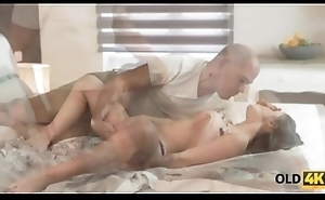 OLD4K. Relaxed young whore let venerable partner puncture her butthole
