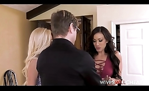 Hot Juvenile Blonde Cheating Wife Lyra Law Has Husband Await Her Fuck Another Chick Jennifer Pallid