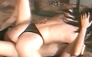 Glamorous dyke licked in melancholy BDSM fomenting session