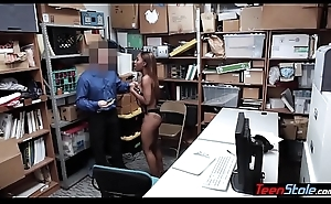 Pierced titted felonious sneak-thief screwed anally by a mall cop