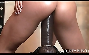 Female Mortality real Porn Star Rides a Huge Dildo