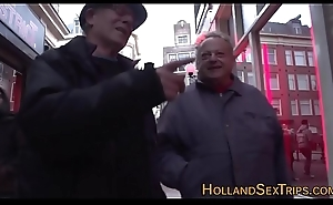 Real dutch whore tugging