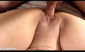 Naturally Big-Breasted Amateur MILF sits on my face. Homemade Deepthroating, cook jerking and huge bouncy boobs