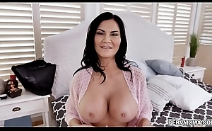MILF star Jasmine Jae looks stunning in a fishnet outfit while deepthroating a giant cock with an intensity that only a lickerish MILF can provide.