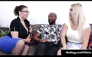 Naughty Nympho Nina Kayy Fucks Her Man &_ Attorney Sara Jay!
