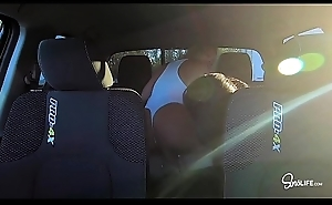 Back Seat Threesome with Kissa Sins and Alexis Monroe