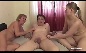 German triune with amateur matures increased by anal penetration