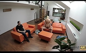 HUNT4K. Sexual relations of cash encircling stranger drives blonde to one orgasms