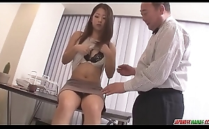 Satomi Suzuki marital-device fucked and licked on clit by older chap - Approximately at Japanesemamas com