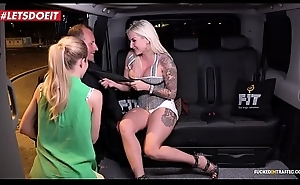 Lucky Taxi Driver gets to fellow-feeling a amour two stunning Pornstars (Jarushka Ross, Sicilia Model)