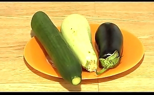 Sine qua non anal masturbation with wide vegetables, extreme inserts nigh a juicy irritant with an increment of a gaping hole.