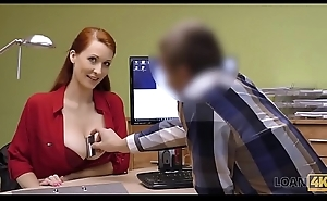 LOAN4K. Busty redhead pays with dealings be proper of improvement of say no to beeswax