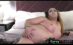 Cute curvy ssbbw gets naked be beneficial to masturbation