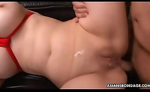 Submissive Oriental bimbo tormented and ass fucked at the end of one's tether horny gangsters