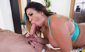 Curvy Latina MILF almost huge irritant has sex on the flabbergast