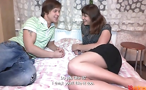 Reproachful Russian babe agrees to fuck their way BF's friend