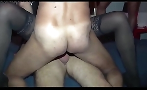 My become man first Gangbang! Real Amateur! Anal job &_ DP