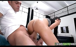 Renato feeds Andreina Deluxe his cock deep down say no to throat!