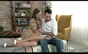 Big cocked husband facefucked his become man